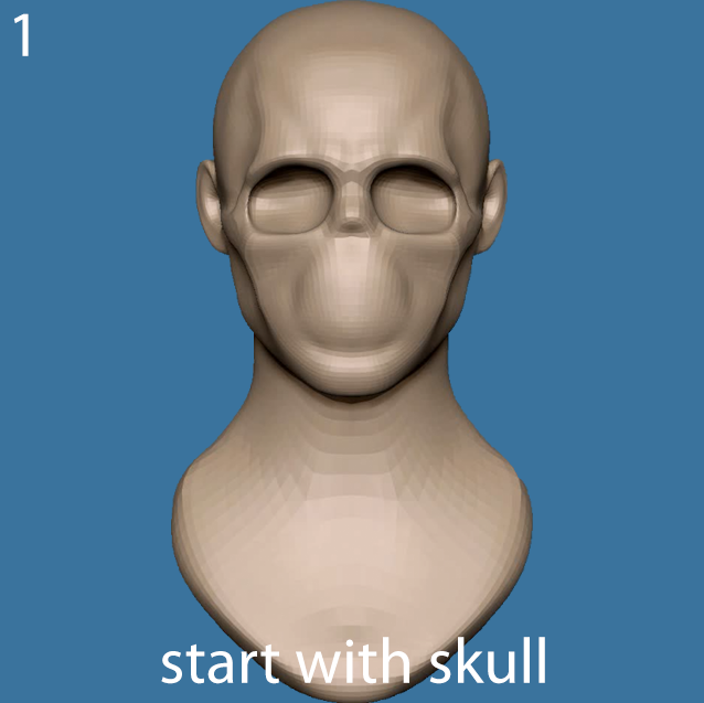 Start with a skull