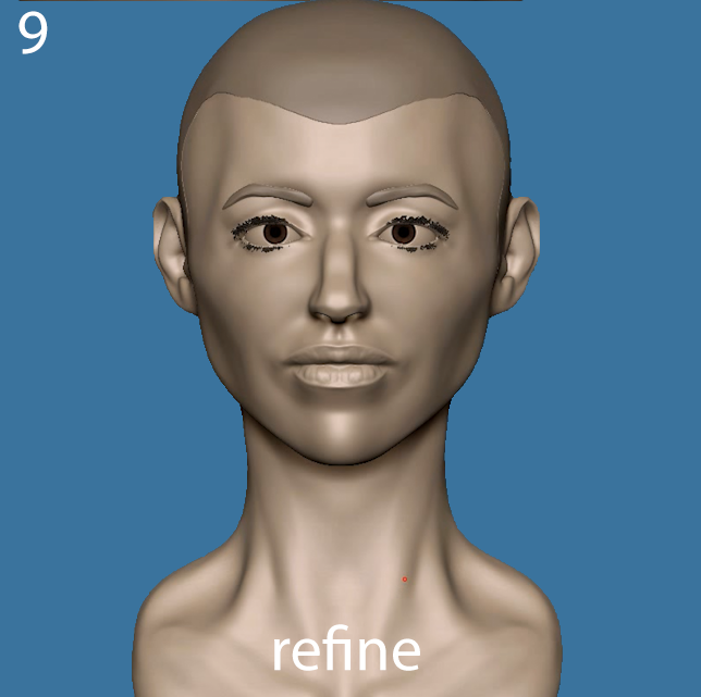 Refine the sculpture
